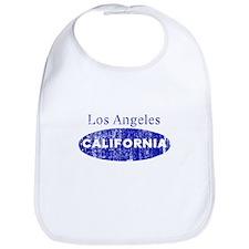 Vintage Blue Los Angeles Cali Bib