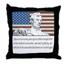 Abraham Lincoln Speech Throw Pillow