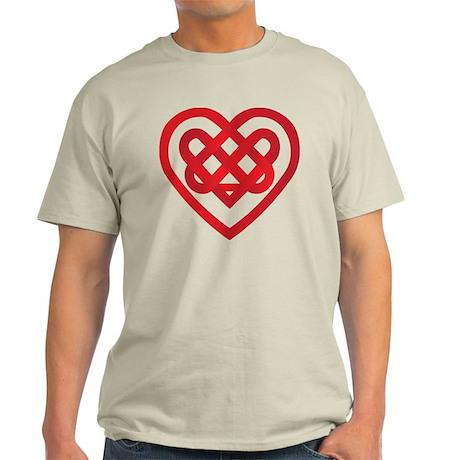 Red Celtic Knot Heart Valenti Light T-Shirt