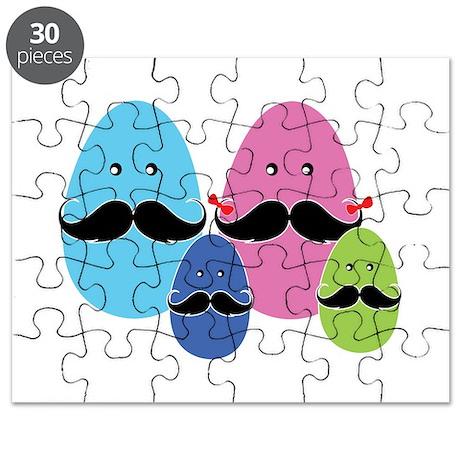 Moustache eggs family Puzzle
