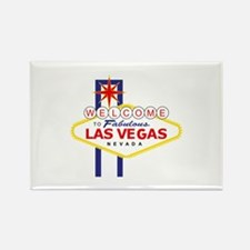 Las Vegas Rectangle Magnet