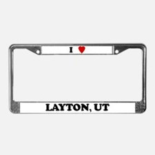 I Love Layton License Plate Frame