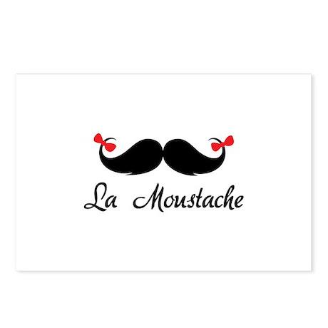 La moustache Postcards (Package of 8)