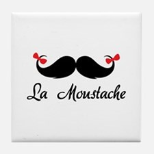 La moustache Tile Coaster