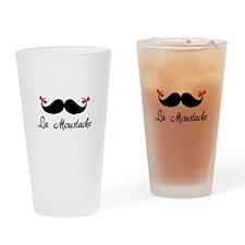 La moustache Drinking Glass