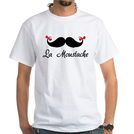 La moustache White T-Shirt