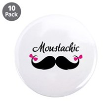 """Moustachic 3.5"""" Button (10 pack)"""