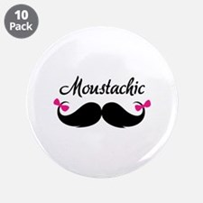 "Moustachic 3.5"" Button (10 pack)"