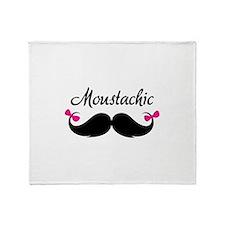 Moustachic Throw Blanket