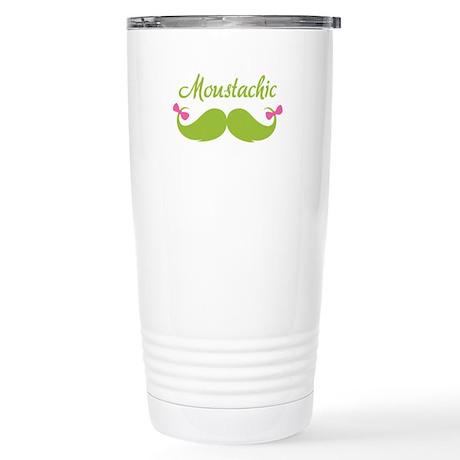 Moustachic Stainless Steel Travel Mug