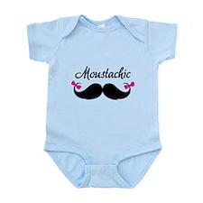 Moustachic Infant Bodysuit