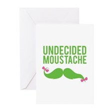 Undecided moustache Greeting Cards (Pk of 20)