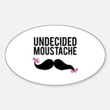 Undecided moustache Decal