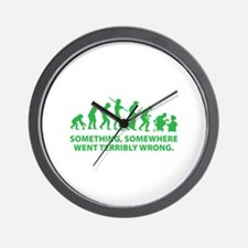 Evolution went wrong Wall Clock