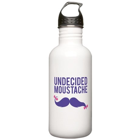Undecided moustache Stainless Water Bottle 1.0L