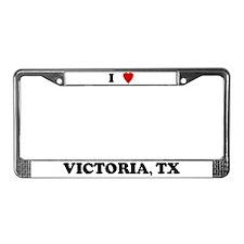 I Love Victoria License Plate Frame
