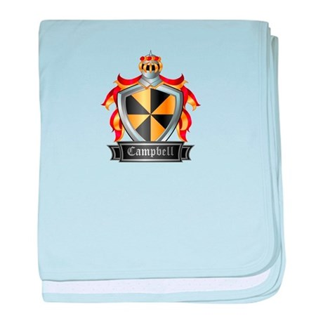 CAMPBELL COAT OF ARMS baby blanket