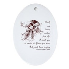 Girl in a Garden Ornament (Oval)