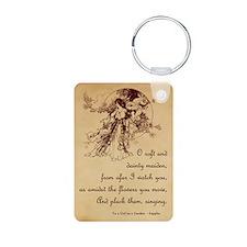 Girl in a Garden Keychains