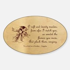 Girl in a Garden Decal