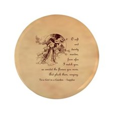 "Girl in a Garden 3.5"" Button (100 pack)"