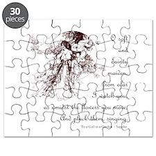 Girl in a Garden Puzzle