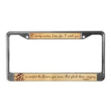 Girl in a Garden License Plate Frame