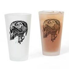 Cute Raven tattoo Drinking Glass