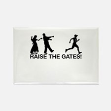 Raise the Gates Zombie Runner Rectangle Magnet