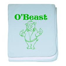 O'Beast baby blanket