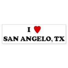 I Love San Angelo Bumper Bumper Sticker