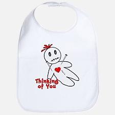 Anti Valentine Voodoo Doll Bib