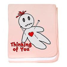 Anti Valentine Voodoo Doll baby blanket