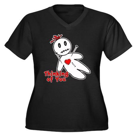 Anti Valentine Voodoo Doll Women's Plus Size V-Nec