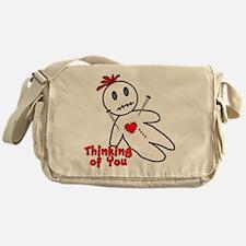 Anti Valentine Voodoo Doll Messenger Bag