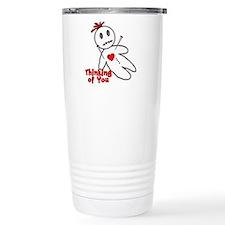 Anti Valentine Voodoo Doll Travel Mug