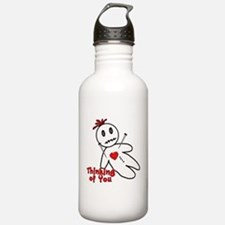 Anti Valentine Voodoo Doll Water Bottle