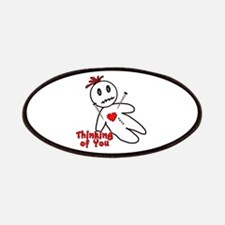 Anti Valentine Voodoo Doll Patches