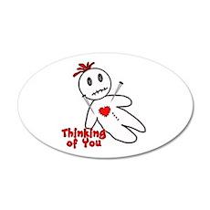 Anti Valentine Voodoo Doll 22x14 Oval Wall Peel