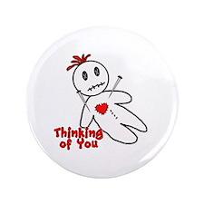 """Anti Valentine Voodoo Doll 3.5"""" Button"""