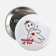 """Anti Valentine Voodoo Doll 2.25"""" Button"""