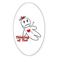 Anti Valentine Voodoo Doll Decal