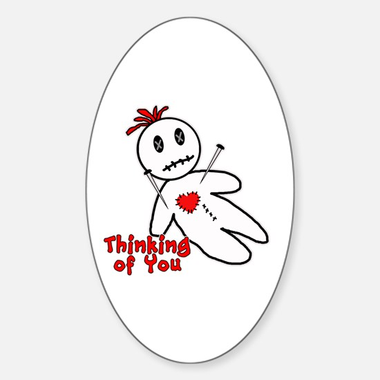 Anti Valentine Voodoo Doll Sticker (Oval)