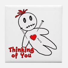 Anti Valentine Voodoo Doll Tile Coaster