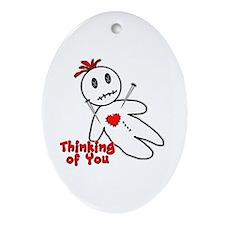 Anti Valentine Voodoo Doll Ornament (Oval)