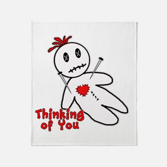 Anti Valentine Voodoo Doll Throw Blanket