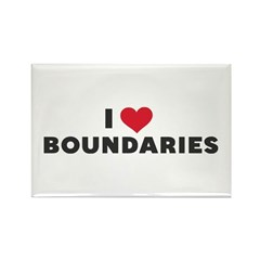 I Heart Boundaries Rectangle Magnet