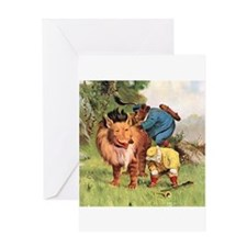 Roosevelt Bears Encounter a Lion Greeting Card