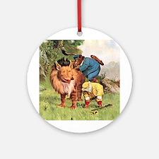 Roosevelt Bears Encounter a Lion Ornament (Round)