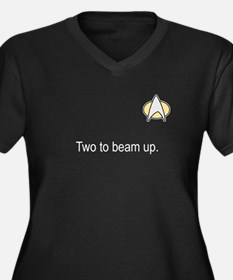 Two to beam up white font Plus Size T-Shirt